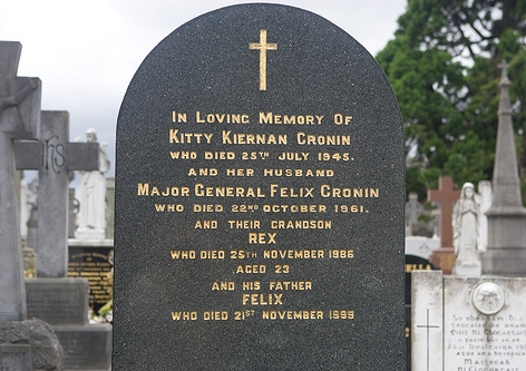 Kitty and Felix Cronin's grave, Glasnevin